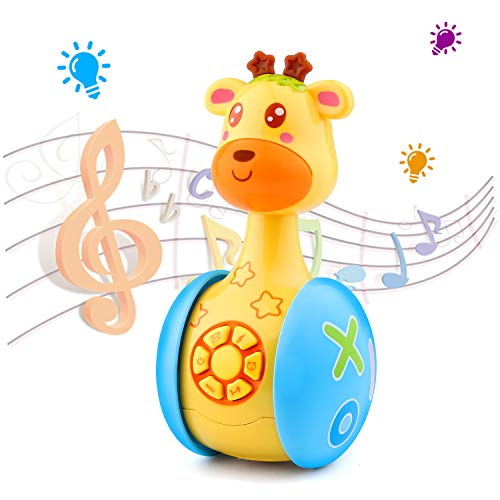 Tinabless Giraffe Baby Toy with Music and LED Light Up for Infants, Toddler Interactive Learning Development, Awesome for Boys & Girls