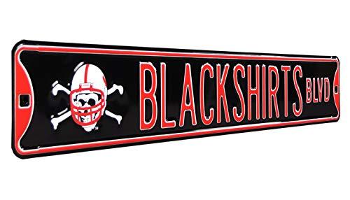 NCAA Nebraska Huskers - Blackshirts BLVD, Heavy Duty, Metal Street Sign Wall Decor - Ncaa Nebraska Cornhuskers Street Sign