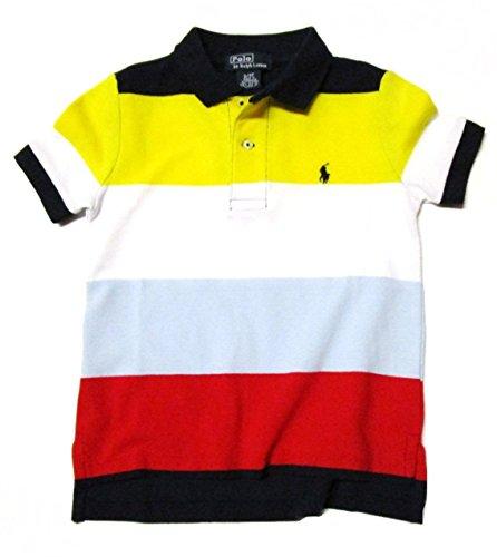 Polo Ralph Lauren Toddler / Little Boys' Striped Polo Shirt (2T / Toddler, Lt. Blue / Red / Navy / Yellow)