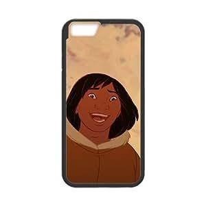 iPhone 6 Plus 5.5 Inch Phone Case Cover Black Disney Brother Bear Character Kenai 08 EUA15993776 Design 11D Case