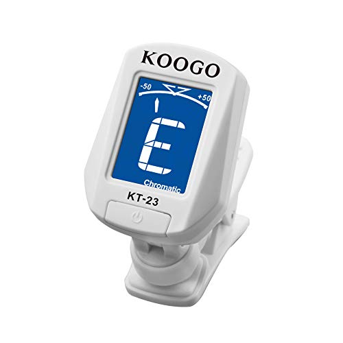 Koogo Clip-on Tuner for Guitar Bass Violin Ukulele and Chromatic, Battery Included, Auto Power Off