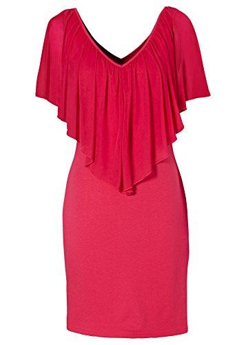 Vestidos de Mujer Verano Mangas Corta de Gasa y de Fiesta Cortos Vestidos de coctail Rojo