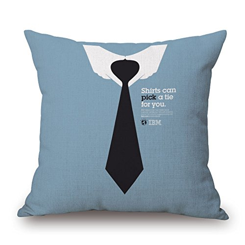 (Ling @ Ultra Compact Throw Pillow Case Creative Cotton Linen Throw Pillow Case Creative Individuality Decorative Pillows Cushions for Comfortable Sofa Bed Car Neckties 4545CM)