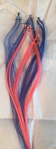5 Streaks Pink 5 Strands Blue Microbead Micro Ring Loop Hair Extensions