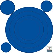Fun Circles & Rings ** Buy 1 Get 1 Free **Kids Decor Peel & Stick Dot Decals - Blue Jeans Denim Colored
