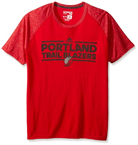 NBA Portland Trail Blazers Adult Men Dazzler Tactical Climate Ultimate S/Tee, Large, Red