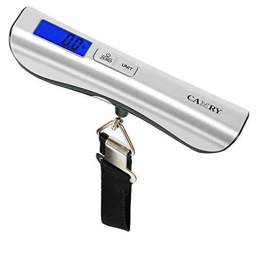 Camry Luggage Scale 110 Lbs Capacity Large and Blue Backlight LCD Display New Arrival, Silver, One Size