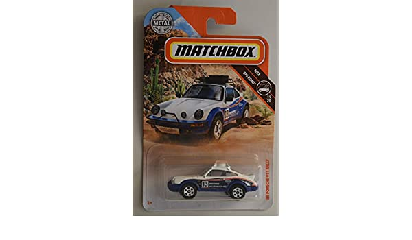 Amazon.com: Matchbox Off Road Series 85 Porsche 911 Rally 19/20, White/Blue: Toys & Games