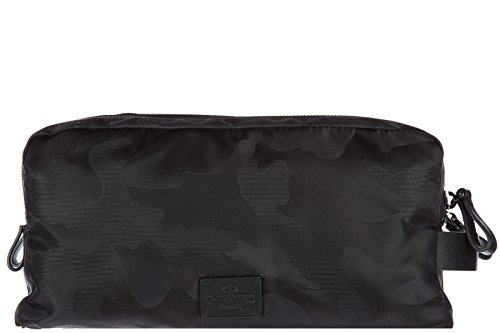 Valentino men's Nylon travel toiletries beauty case wash bag black by Valentino