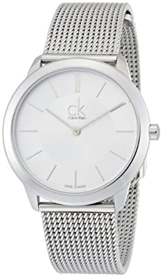 Calvin Klein Swiss Made Minimal K3M22126 Wristwatch for Him Classic & Simple