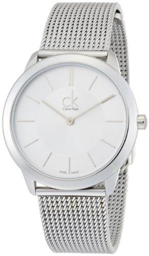 Calvin-Klein-K3M22126-Reloj-analgico-de-cuarzo-para-mujer-con-correa-de-acero-inoxidable-color-plateado