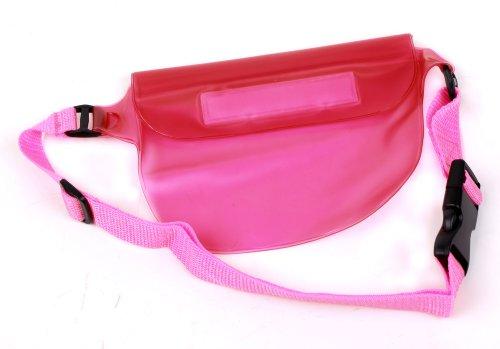 Sportliche, wasserdichte Hüfttasche für KAZAM TROOPER X3.5 / X4.0 / X4.5 / X5.0 / X5.5ni Smartphones - ROSA von DURAGADGET