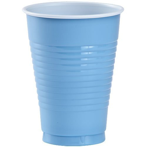 Party Dimensions 81132 20 Count Plastic Cup, 12-Ounce, Light Blue