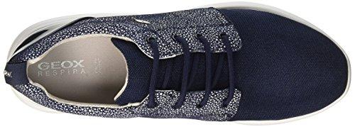 Navyc4192 Denim Geox Noir Femme Bleu Ophira Basses A Sneakers qxrw8q60