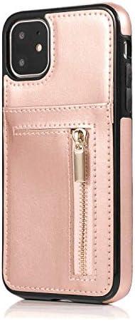 iPhone 7 PUレザー ケース, 手帳型 ケース 本革 スマートフォンカバー 耐摩擦 ビジネス 財布 カバー収納 手帳型ケース iPhone アイフォン 7 レザーケース