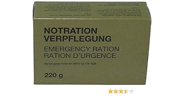 Militar L provisiones de comida Notverpflegungsration 220 G ...