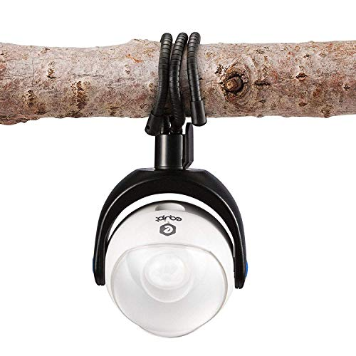 Equipt EQBPL090 Weather Resistant Portable Multi-Functional 360 Degree LED Light w/ Motion Sensor for Outdoor Lighting