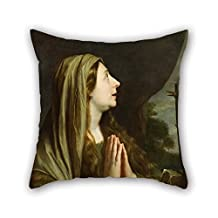 Oil Painting Philippe De Champaigne - Mary Magdalene Throw Cushion Covers 18 X 18 Inches / 45 By 45 Cm For Kitchen Shop Bench Wife Study Room Teens Boys With Both Sides