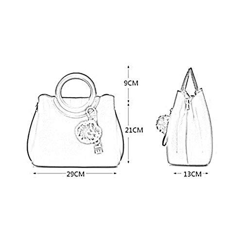 La Femmes 06 21 Couleurs Bandoulière 29 À 6 Wxr Anlei Mode Sac Pu 9936 Messenger Main Cm 13 Bag UqaSX0