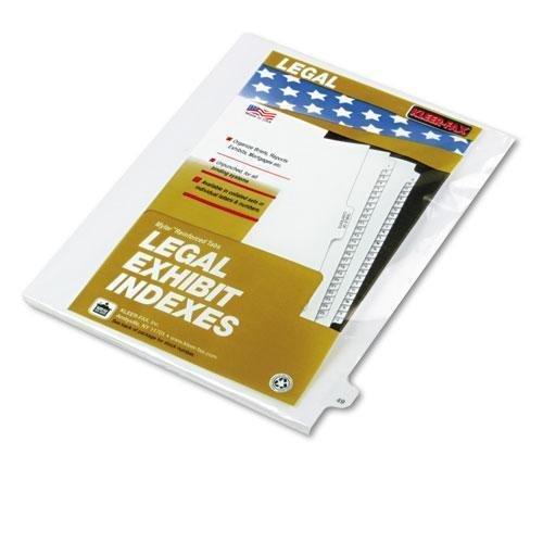 Kleer-Fax 82249 80000 Series Legal Index Dividers, Side Tab, Printed 49, 25/Pack by Kleer Fax