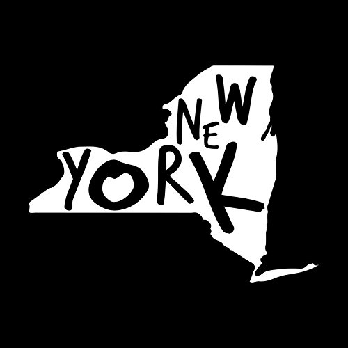 New York State Vinyl Decal Sticker | Cars Trucks Vans Walls Windows Laptops Cups | White | 5.5 X 4.1 | KCD1947