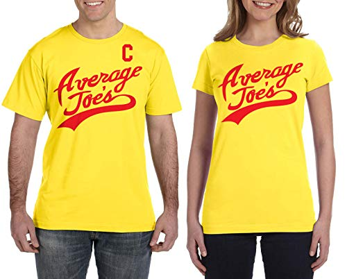 Men's Average Joe's Captain T-Shirt & Women's Average Joe's T-Shirt [Men's: LG, Yellow/Women's: MD, Yellow]