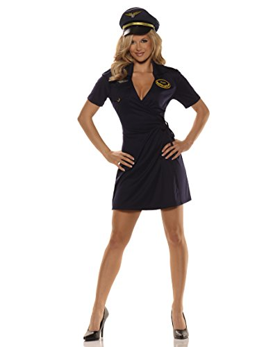 Mile High Pilot Costume For Women, X-Large