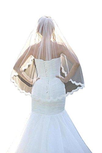 ivory dress and white veil - 9