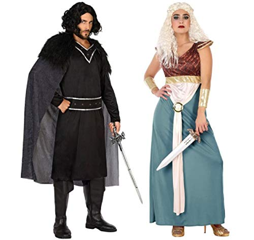 Couples Ladies & Mens Medieval Historical Throne King