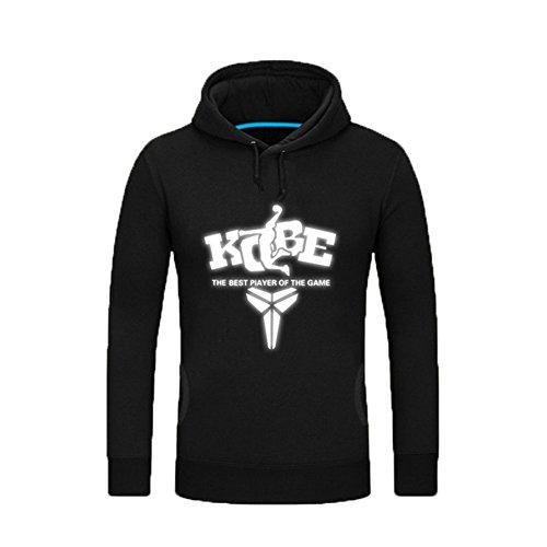 XCOSER Kobe Lakers Hoodie Fleece Lined Pullover Sweatshirt Long Sleeve Black XL (Lakers Costume)