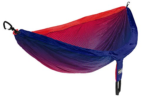 - ENO - Eagles Nest Outfitters DoubleNest Print Portable Hammock for Two, Fade Red/Sapphire