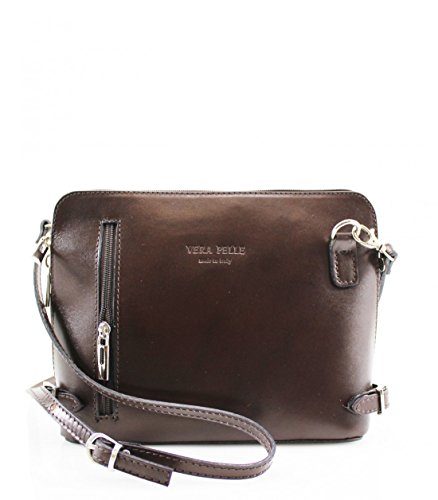Vera Front Coffee Crossbody Leather Bag Evening Zip Messenger Pelle Leather Ladies Shoulder Bag Bag AwAqx4far