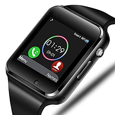 Smart Watch - Aeifond Bluetooth Smartwatch Touch Screen Wrist Watch Sports Fitness Tracker with Camera SIM SD Card Slot Pedometer Compatible iPhone iOS Samsung LG Android Men Women Kids