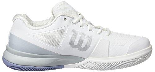 Wilson Dame Haste Pro 2,0 Ler Domstol TennisSko Elfenbein (hvid / Perle Blå / Stonewash)