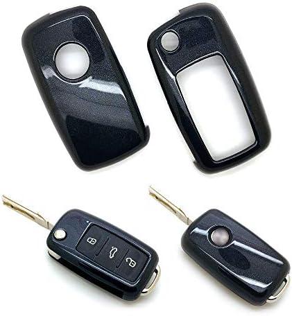 [해외]carmonmon Plastic Remote Smart Key Fob Shell Cover Case Bag Holder Cover for VW Beetle Passat Tiguan Touran Jetta MK1-MK6 Golf GTIRabbitRMK6MK5 (Black) / carmonmon Plastic Remote Smart Key Fob Shell Cover Case Bag Holder Cover for ...