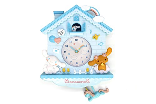 Rustic Golbary Gifts Cuckoo Nursery Wall Clock Pink With Pendulum Mouse House With Bunnies Adorable Infant Boys & Girls Gift (Light Blue)