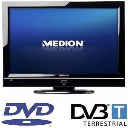 Medion Life P12022 47 Cm 18 5 Zoll Lcd Fernseher Hd Ready Dvb T Tuner Dvd Player Schwarz Heimkino Tv Video