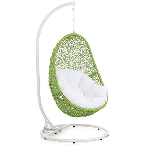 cute hanging chair lime green color