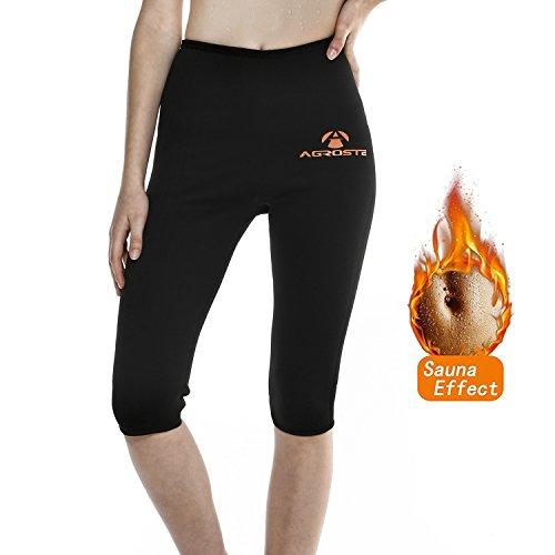 c674646332 AGROSTE Women s Neoprene Sauna Slimming Pants-Fat Burning Hot Thermo Sweat  Sauna Capris Leggings Shapers