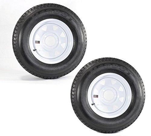 Hole White Spoke - eCustomRim Two Trailer Tires Rims ST175/80D13 1758013 B78-13 13