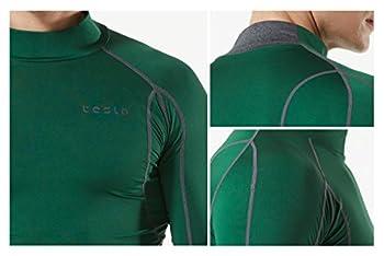 Tesla Tm-mut12-wht_large Men's Mock Long-sleeved T-shirt Cool Dry Compression Baselayer Mut12 7