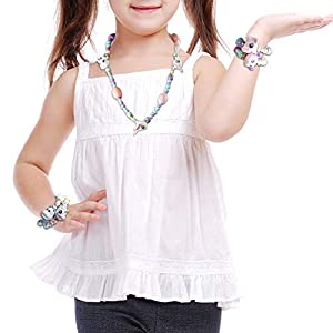 Xing Fei Cute Magic Bracelet 8 Pack, Twist Animals Beaded Magical Tricks Bracelet DIY Toy Kids Girls Necklaces