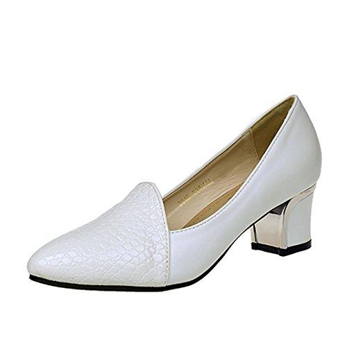 de Blanc Talon Plat Bouche Chaussures Bohème Chaussures Sandales Chaussures Talon Haut Sexy de Unie carré Classique la Pantoufles Été Femme Mode JIANGfu Rome Profonde Peu Couleur w48qpv