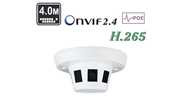 PoE 1080P 3.0MP 2.8mm Lens Hidden IP Camera Network Covert Smoke Detector ONVIF