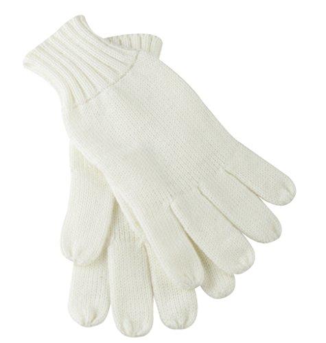 Myrtle Beach Gants tricotés avec rebord (L-XL, off-white)