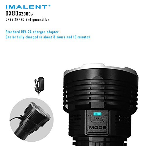 Imalent DX80 Flashlights High Lumens 32000 Lumens Searchlight LED Flashlights Built-in Battery by IMALENT (Image #1)