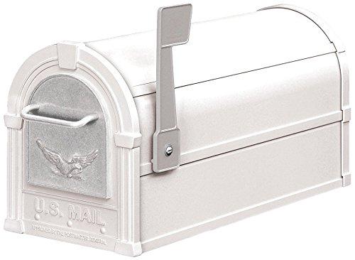 Rural Mailbox, Eagle, White/Silver