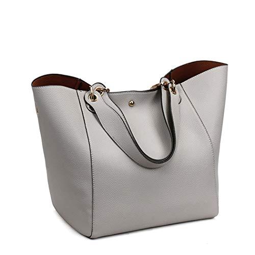 bandolera y de Shoppers Gris hombro Carteras Bolsos y de bolsos mano DEERWORD clutches Mujer w1q0FP