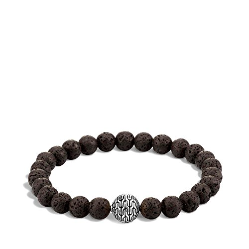 John Hardy Collection Black Volcano with 10.5mm Beads Classic Bracelet - Medium (John Black Bracelet Hardy)