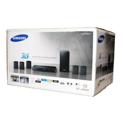 New Samsung Ht-j4500 5.1 Channel Blu-ray Player 3d Home Theater Speaker System
